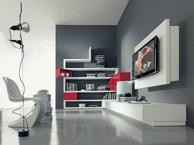 Parete attrezzata side 10 fimar pozzoli living moving - Porta tv a parete orientabile ...