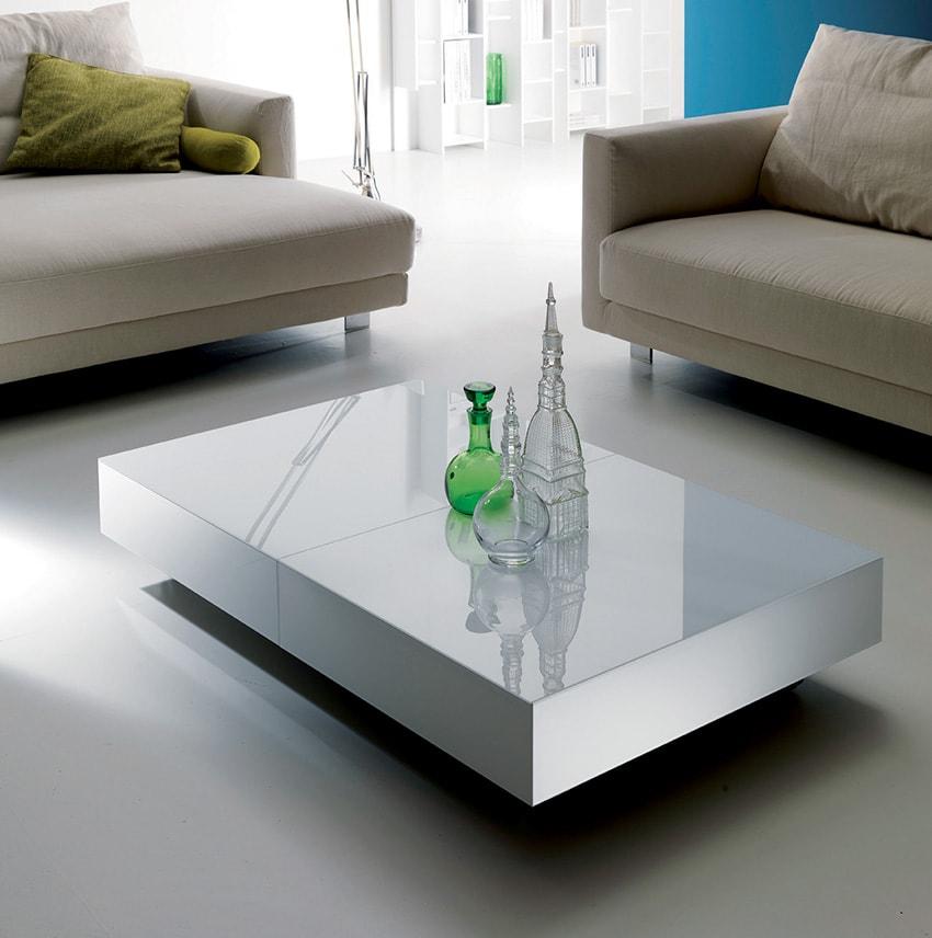 Tavolini Da Salotto Trasformabili.Tavolino Trasformabile Box Ozzio Italia