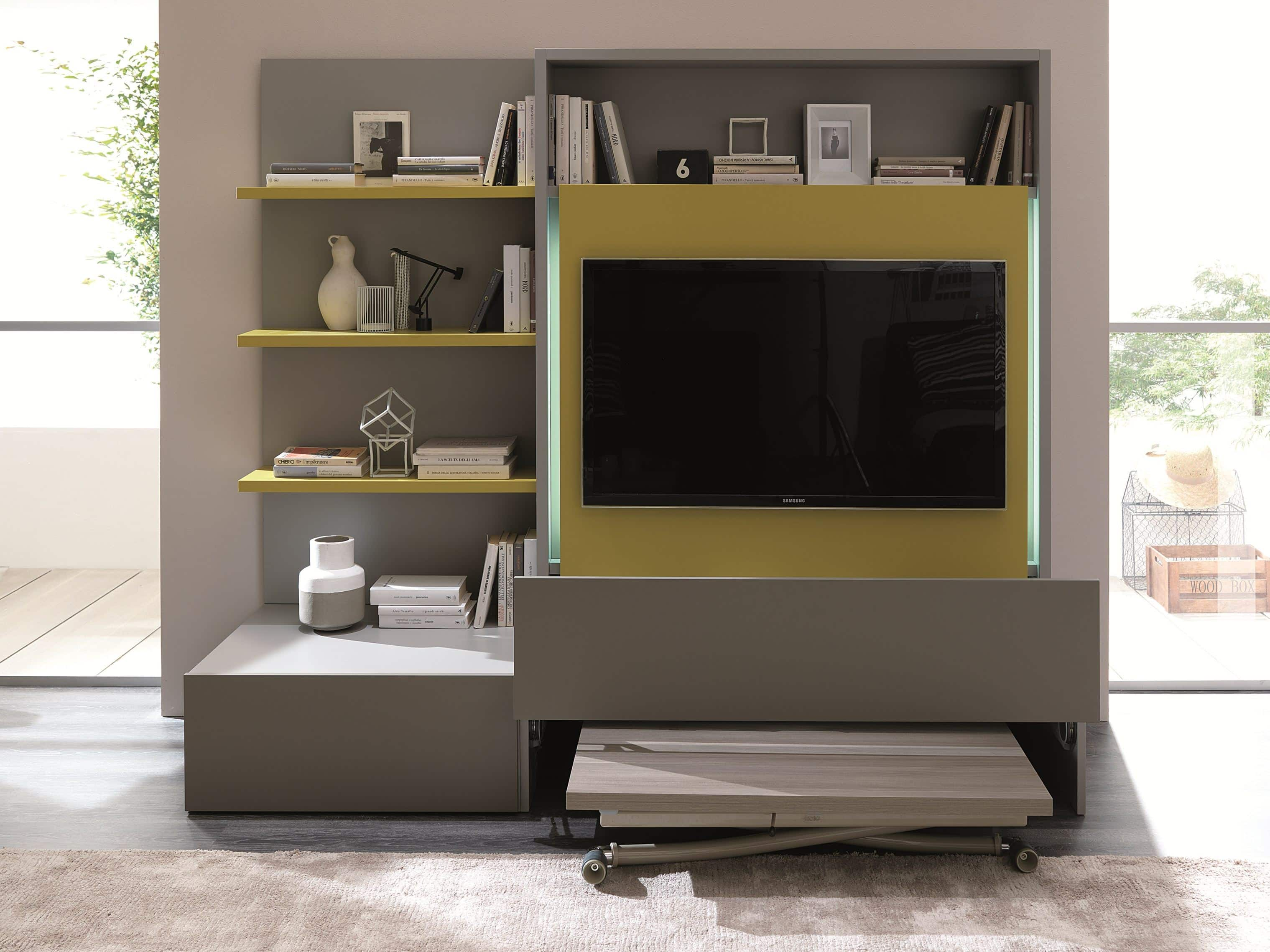 Porta tv smart living ozzio italia u pozzoli living moving