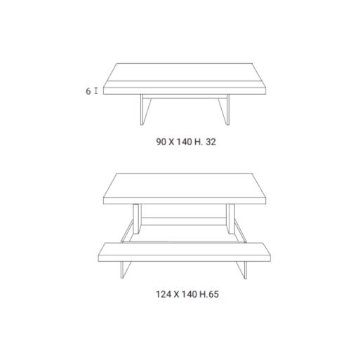 Tavolino Elevabile Markus