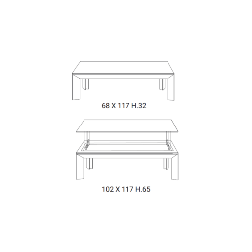 Tavolino Elevabile Metrino