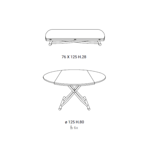 Tavolino Trasformabile Globe Promo