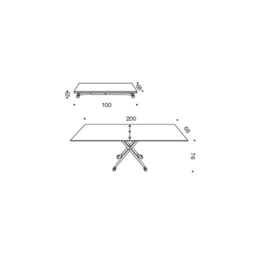 Tavolino Trasformabile Minilong