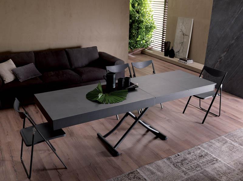 Tavolini Da Salotto Che Si Alzano.Tavolino Trasformabile Newood Ozzio Italia Pozzoli Living Moving