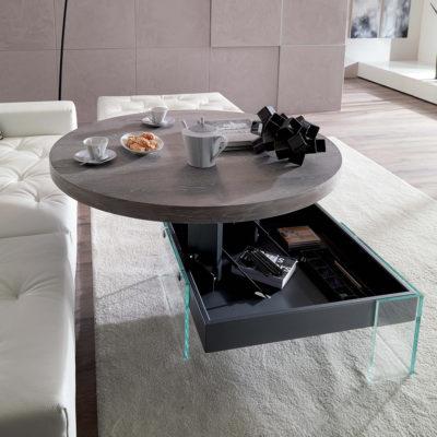 Tavolino Elevabile Bellagio Round – Ozzio Italia