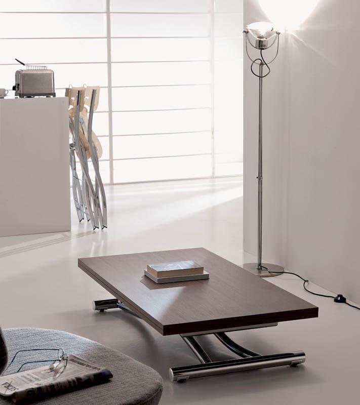 Tavolino trasformabile mondial ozzio italia pozzoli living moving - Tavolino che diventa tavolo da pranzo ...