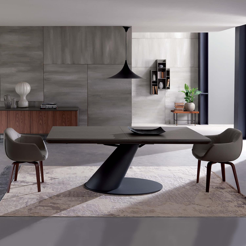 Tavolo allungabile thor ozzio italia pozzoli living for Tavoli allungabili di design