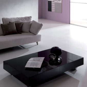 Tavolino Trasformabile Box Cristallo – Ozzio Italia