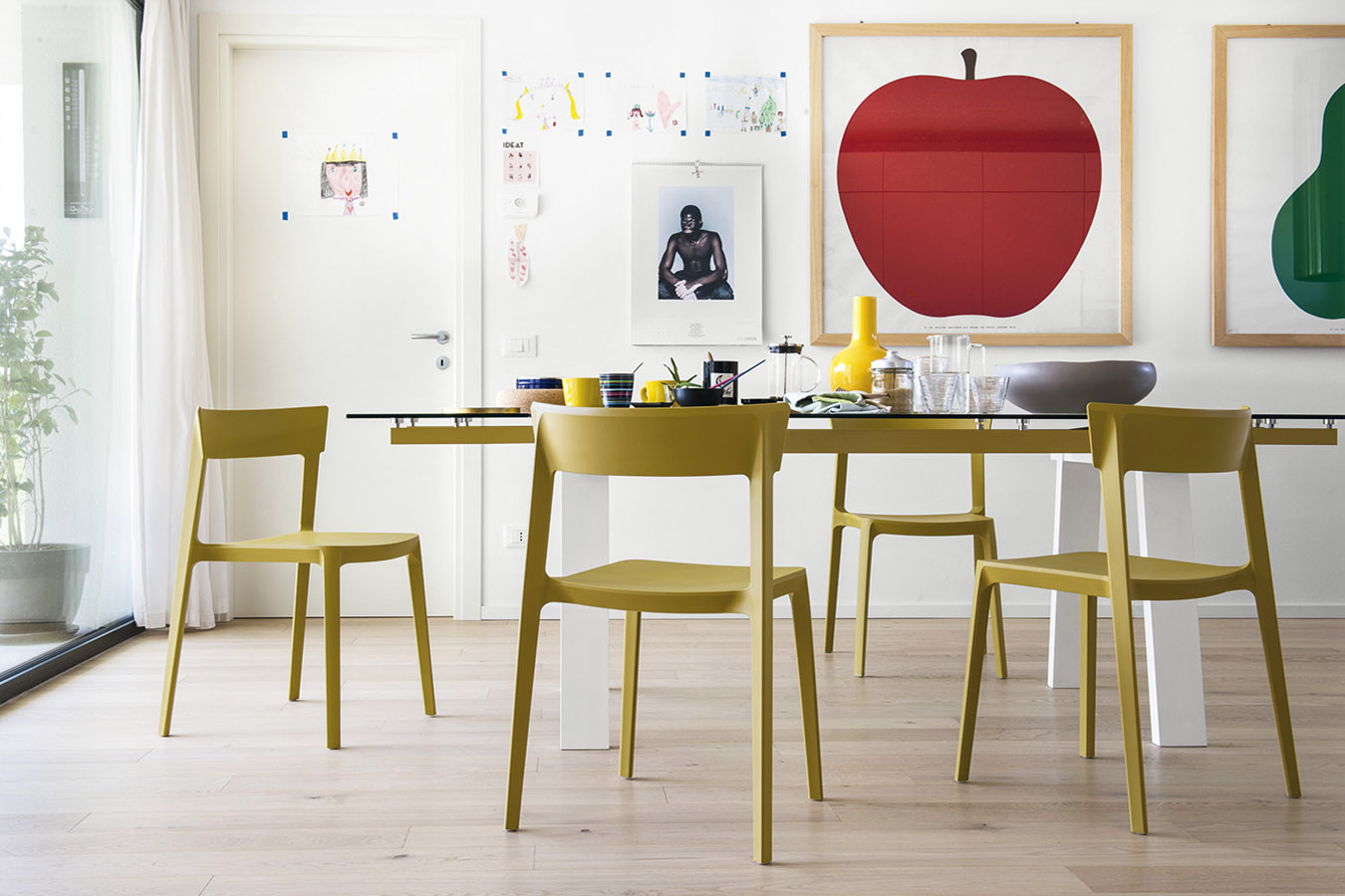 Sedia impilabile skin calligaris u2013 pozzoli living & moving