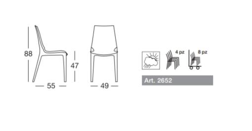 Vanity Chair scheda tecnica
