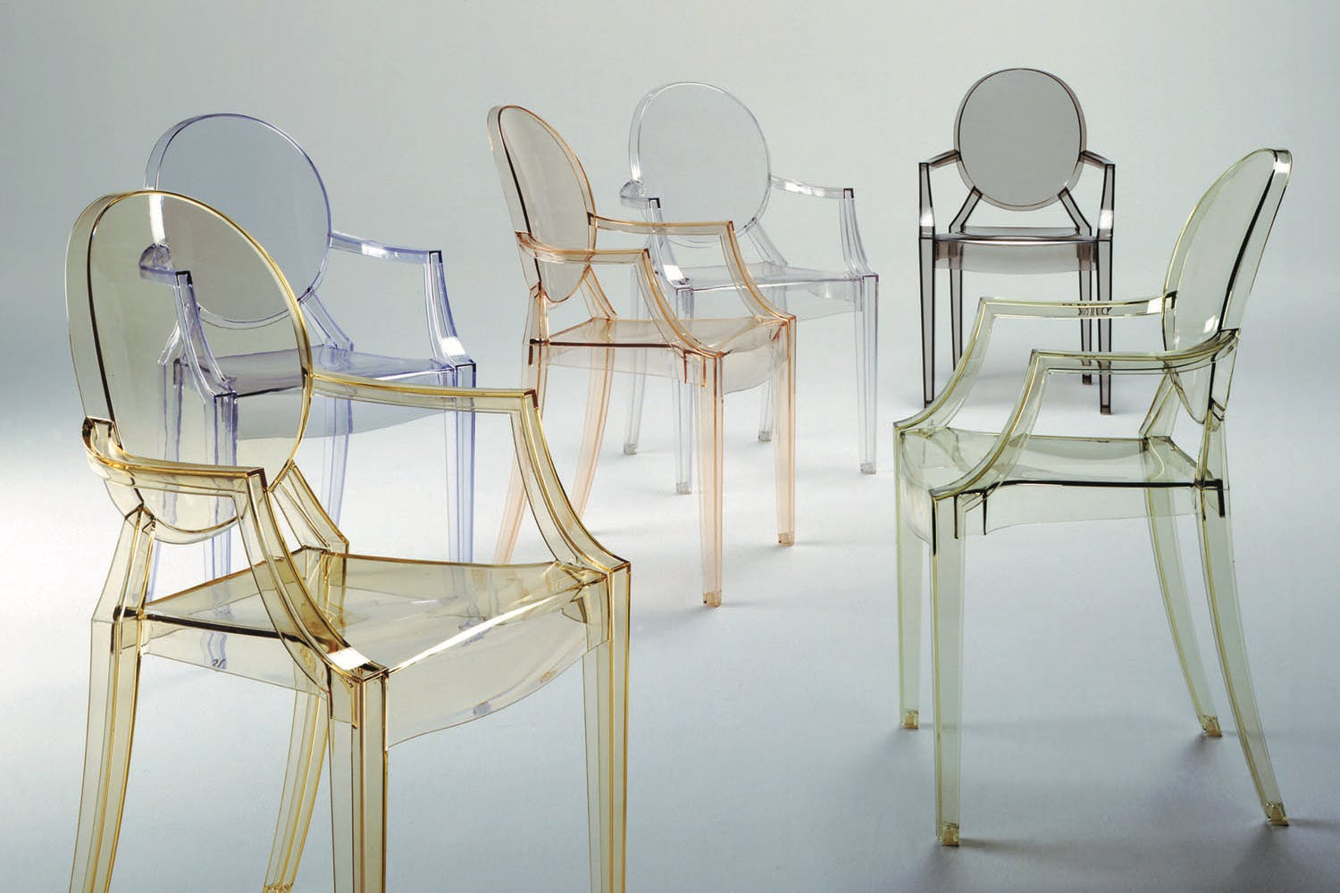 Poltroncina louis ghost trasparente kartell u pozzoli living