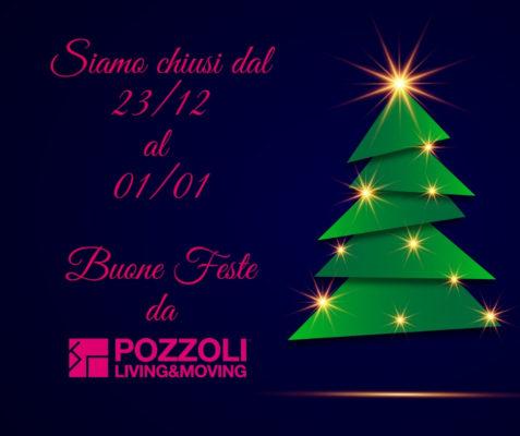 Chiusura Natalizia - Buone Feste da Pozzoli Living & Moving