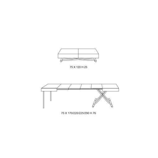 Tavolino Trasformabile Magnum Cr