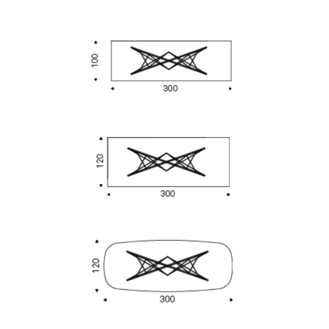 Dimensioni Tavolo Pranzo 12 Persone tavolo fisso gordon - cattelan italia