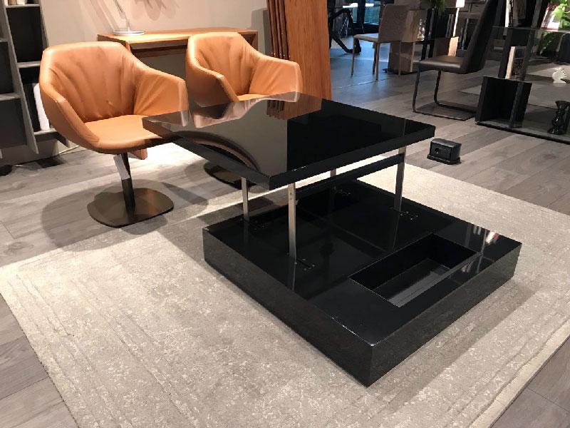 Tavolino Elevabile Flat Nero
