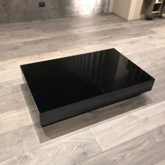 Tavolino Trasformabile Box Nero – Ozzio Italia