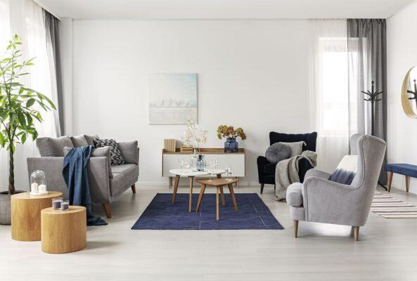 disposizione mobili in soggiorno