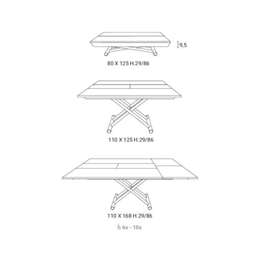 Tavolino Trasformabile Leonardo
