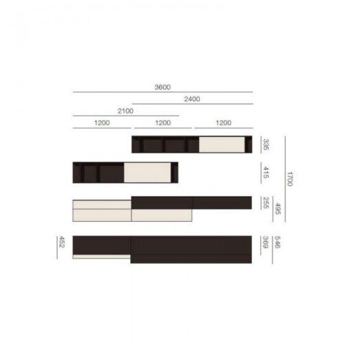 Soggiorno componibile Sangiacomo | LAMPO LC515