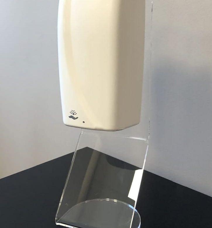 Dispenser igienizzanti da banco